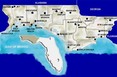 Panhandle Of Florida Map.Time Zone Map Florida Panhandle Www Picsbud Com